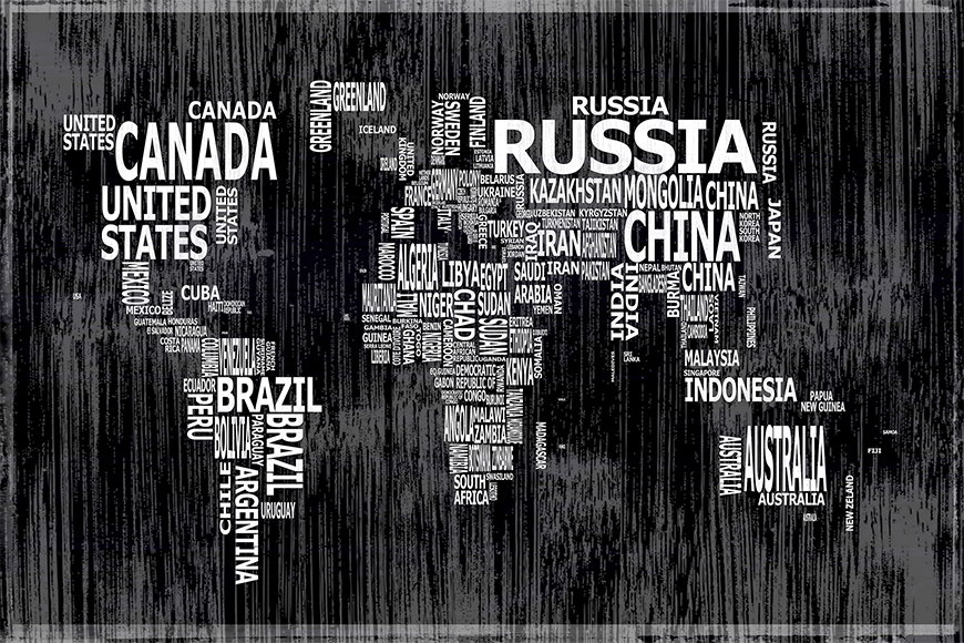 Wallpaper Worldmap 13 from 120x80cm