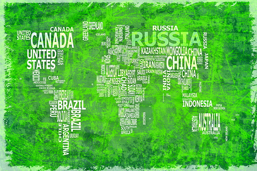 Wallpaper Worldmap 16 from 120x80cm